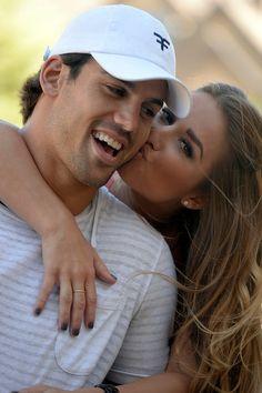 eric decker wedding   CASTLE ROCK, CO. - JULY 17: Denver Broncos Eric Decker gets a kiss on ...