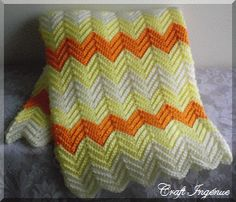 free, lots of afghan crochet patterns  (I've made this pattern loads of times ~ takes a little time all sc)