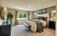 The luxurious master suite in the Carnation home.