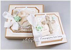 Blog sklepu CraftyMoly : PRZYJMIJ DARY DUCHA ŚWIĘTEGO... Homemade Greeting Cards, Birthday Cards, Decorative Boxes, Scrapbooking, Gift Wrapping, Easter, Tableware, Gifts, Blog