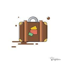 """147 Likes, 1 Comments - ZooGráfica (@zoografica_) on Instagram: """"Icon Bag 2/3 🎒 ・・・ #ilustración #diseño #illustracion #adobe #creatividad #arte #grafica #vector…"""""""