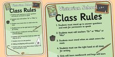 This list of role play rules is the ideal resource for any children looking to put themselves in the shoes of students from a Victorian school. School Life, School Days, School Stuff, Role Play Areas, Class Rules, Year 6, Teaching History, School Holidays, School Projects