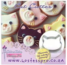 Cat Cutters  Shop from the comfort and safety of your home Shop Online!! www.hostesspro.co.za We send parcels to where you are.. Click on the link below to view more details on this product Visit our website to see our exciting products. Cake Decorating Made Easy.. #cakedecorating #sugarcraft #hostessprosugarcraft #cake www.hostesspro.co.za