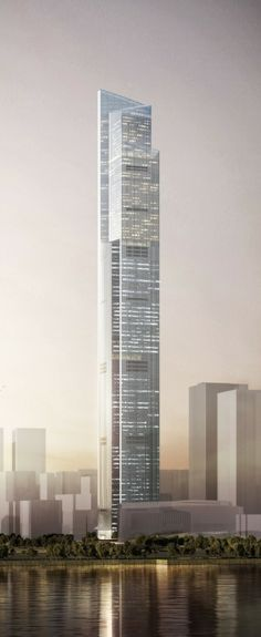 The Chow Tai Fook Centre (CTF) or Guangzhou East Tower, Guangzhou, China by Kohn Pedersen Fox Associates Architects :: 111 floors, height 530m