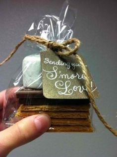 Fall and Winter Wedding S'more Favor  More Awesome Favor Ideas at www.knotweddingday.com