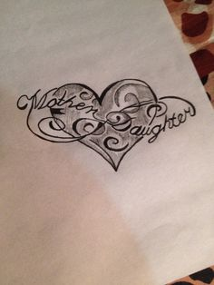 Mom in laws daughter tattoo drew this with a thiner outline because it'll look better for my mother in law Mum And Daughter Tattoo, Tattoos For Daughters, Mom Daughter, Mother Daughters, Mother Tattoos, Mom Tattoos, Family Tattoos, Couple Tattoos, Law Tattoo