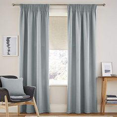 Dunelm Textured Fully Lined Seafoam Blue Henley Pencil Pleat Curtains Curtains Dunelm, Types Of Curtains, Window Sizes, Pleated Curtains, Pencil Pleat, Sea Foam, New Homes, Traditional