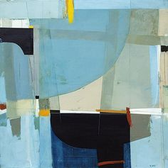 "Refitting by Andrew Bird | Acrylic on canvas | 28"" x 28"" #andrewbird #tannerandlawson #cornwall #abstractart"