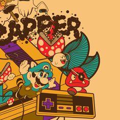 Super Mario Illustration #Mario