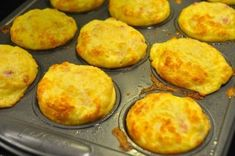 Rise and Shine! It's Bacon Cheddar Breakfast Muffin Time! - Page 2 of 2 - Recipe Roost Delicious Breakfast Recipes, Yummy Food, Recipe Roost, Ham And Eggs, Cheese Muffins, Egg Muffins, What's For Breakfast, Mexican Breakfast, Breakfast Pizza