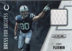 2012 Rookies & Stars Coby Fleener Game Worn Jersey Card Indianapolis Colts