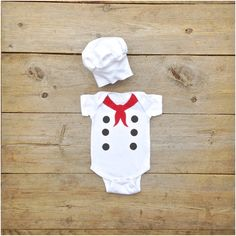 Little Chef Costume, Baby French Chef Onesie
