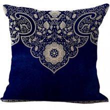 Fabbrica diretta stile cinese blu e bianco porcellana fiore modello in cotone tiro cuscino decorazioni per la casa divano sedia ammortizzatore posteriore(China (Mainland))