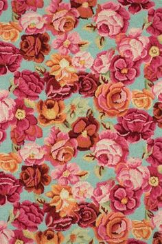 Bed Of Roses  Micro Hooked Wool Rug  Dash and Albert 100% Wool Available in seven sizes