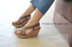 【楽天市場】fabio rusconi ファビオルスコーニ ツイストレザー コルクウェッジサンダル・dia41v(全3色)【2013春夏】:Crouka(クローカ)