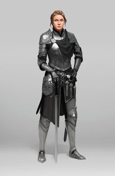Imperial lieutenant by AEBE(AB) Kyutae Kim. Dungeons And Dragons Characters, Dnd Characters, Fantasy Characters, Female Characters, Fantasy Character Design, Character Design Inspiration, Character Art, Character Concept, Female Armor