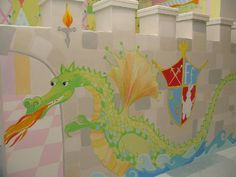 Castle and Dragon Playroom mural idea as seen on www.findamuralist.com