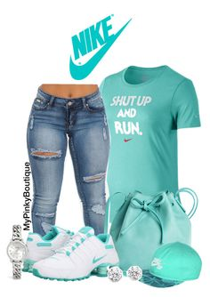 """""""#508"""" by gorgeousmama29 on Polyvore featuring NIKE, Mint & Rose, Kenneth Jay Lane and Coach"""