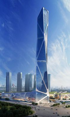 Jason Holtzman Design / Nanjing-South New City Southern Railway Station-2013-(450 meter tower option