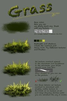 Difference between texture and plain brushnthartyfievi.deviantart.com/ar… More tutorials are coming soon. grass, trees, water, ice and other textures. Tell me what else do you want to ...