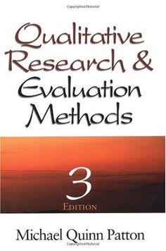 Qualitative Research & Evaluation Methods Michael Quinn Patton
