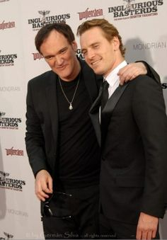 """I was definitely patterning [Hicox] on George Sanders and so, I said you've got to see this guy. And so we saw a couple of George Sanders movies and [Fassbender] was like, (boldly) """"If that's what you want me to do, that's what I'm gonna do.""""  (Laughs) ~ Quentin Tarantino on directing Michael Fassbender"""