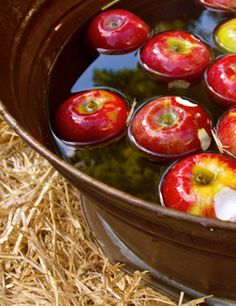 Bobbing....remember how much fun this was???  Adult version=sangria soaked apples maybe???