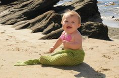 Mermaid Tail Newborn Photo Prop or Costume