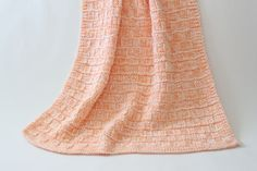 Knit Baby Blanket Afghan Throw Peach & by KnitKnacksCreations