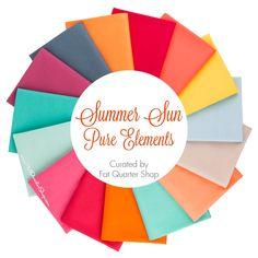 Summer Sun Pure Elements Fat Quarter Bundle<BR>Curated by Fat Quarter Shop