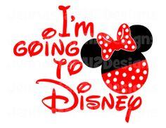 I'm Going To Disney Minnie DIY Printable by JennaStar412Designs, $2.00