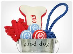 canines for veterans toy gift bucket. Good gift and a good deed by portion of proceeds goes to Canines for Veterans.