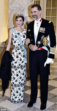 Next in line: Charles and Camilla take second spot, while King Felipe and Queen Letizia of...