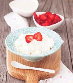 Hüttenkäse mit Sojajoghurt und Erdbeeren