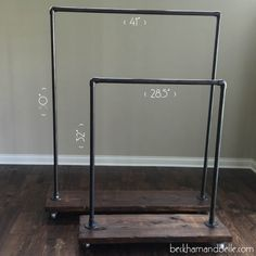Beckham + Belle: Mommy & Me DIY Wardrobe Racks - men's clothing stores, trend of clothes, clothes for fashion *ad Industrial Home Design, Industrial House, Rustic Industrial, Rustic Bench, Industrial Lamps, Rustic Outdoor, Rustic Modern, Industrial Furniture, Rustic Furniture