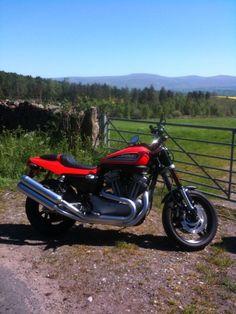 My Harley XR1200 in the rare Cumbrian Sun.