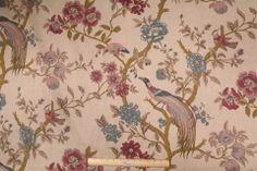 Fabricut Ruth Printed Linen Drapery Fabric in Persian $14.95 per yard
