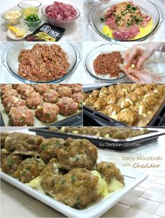 Taco Meatballs with Cheddar (South Beach Phase 1 Recipe) | Diet Plan 101