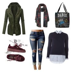 """Everyday wear"" by skovgaardbrun on Polyvore featuring Puma, WithChic, Dorothy Perkins, Thumbprintz and Topshop"