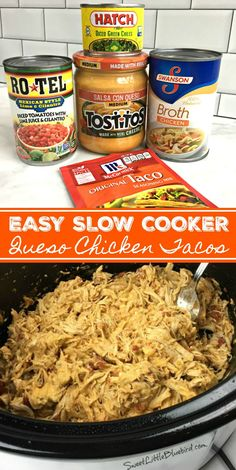 Really good tacos. Used the meat for stuffed potatoes the next night Crockpot Dishes, Crock Pot Cooking, Dip Crockpot, Crock Pot Freezer, Crockpot Ideas, Slow Cooker Recipes, Cooking Recipes, Vegetarian Crockpot Recipes, Slow Cooker Easy Meals