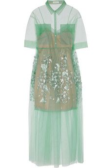 DELPOZO Oversized embroidered tulle gown | THE OUTNET