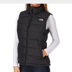 North Face puffer vest North Face puffer vest. Black puffy vest with goose down interior. This is a boys size large - I am a women's size small and it fit perfectly. In excellent condition. Worn only a few times. North Face Jackets & Coats Vests
