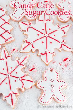 Candy Cane Sugar Cookies are amazing tasting Sugar Cookies! My all-time favourite sugar cookie recipe is perfect for making decorative cut out cookies. Best Christmas Cookies, Christmas Sweets, Holiday Cookies, Holiday Treats, Christmas Baking, Christmas Recipes, Christmas Goodies, Holiday Desserts, Christmas Candy