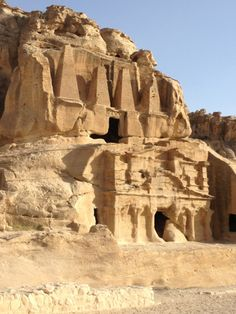 Temple in route to the High Place of Sacrifice at Petra, Jordan