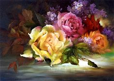 """Tea Roses and Lilacs"" by Gary Jenkins"