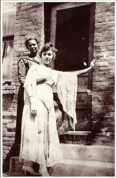 Hull Avenue, Jerome, Arizona - Prostitutes at the Cribs, circa 1910