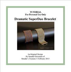 Beading Tutorial Dramatic SuperDuo Bracelet by SmadarsTreasure