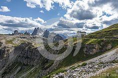 Fantastic view in the Dolomite Alps. Tre Cime di Lavaredo. Italy