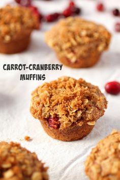 Carrot-Cranberry Muffins #vegan