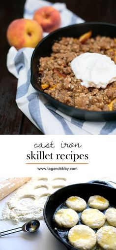 5 Classic Cast Iron Skillet Recipes including how to season your cast iron skillet |  Tag&Tibby